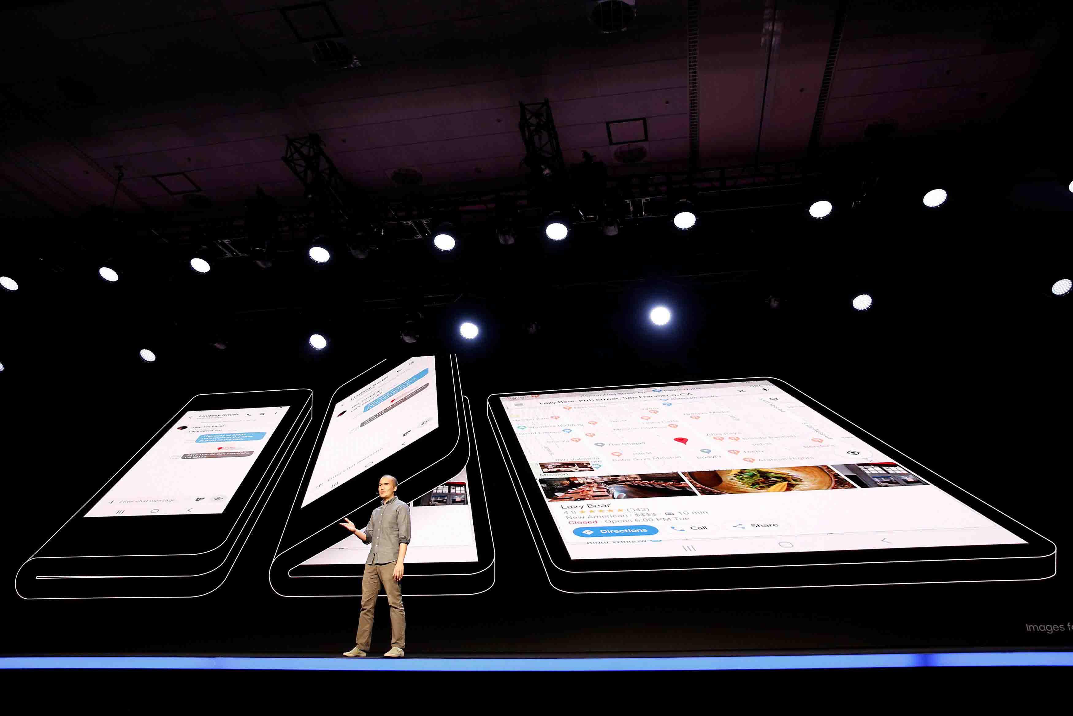"""La compañía lanzó una nueva tecnología de pantallas flexibles para sus móviles, llamada""""Infinity Flex Display"""""""