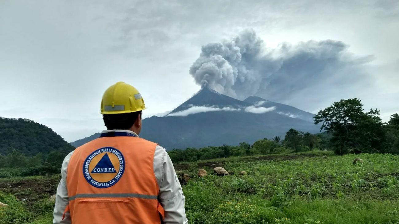 Guatemala en alerta amarilla por Volcán de Fuego