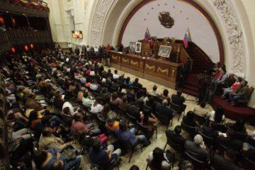 Juan Guaidó es el nuevo presidente del Parlamento; Edgar Zambrano, el primer vicepresidente; y Stalin González el segundo vicepresidente