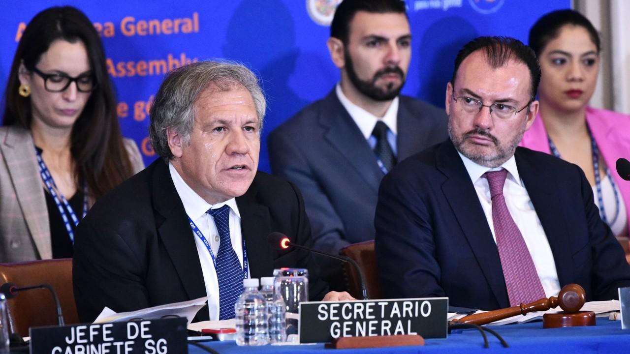 Almagro anuncia que busca reelección como secretario general de la OEA