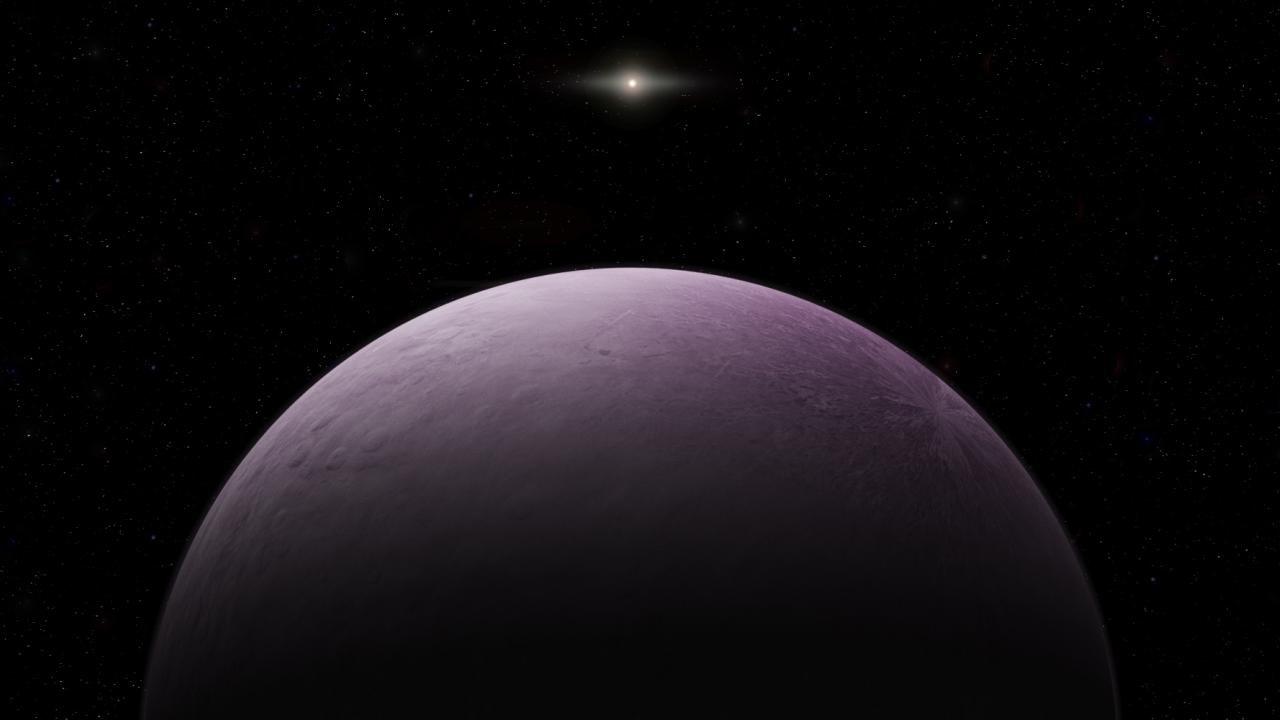 Aparentemente el diámetro del nuevo mundo es de unos 500 kilómetros