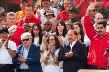 Protestan en México contra Nicolás Maduro y Daniel Ortega
