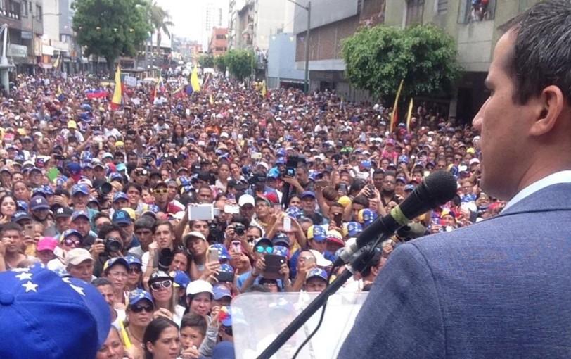 Guaidó en Los Teques, capital del Edo. Miranda