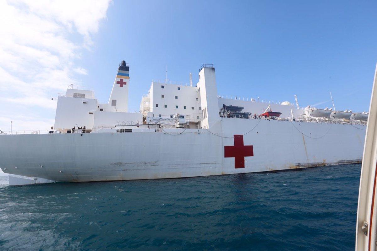 """El """"USNS Comfort"""" se desplegará el próximo mes de junio en los países de Sudamérica, Centroamérica y el Caribe para proporcionar servicios médicos"""
