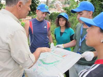 Construcción de Huerto para la Vida en Petare iniciaron Bancamiga y Topotepuy