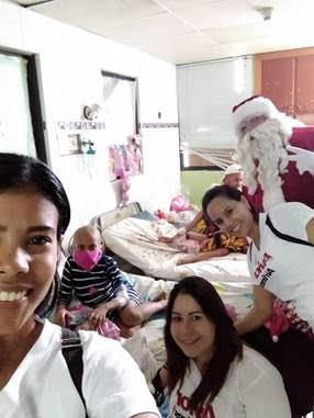 Voluntarios de Avior visitaron hospitales