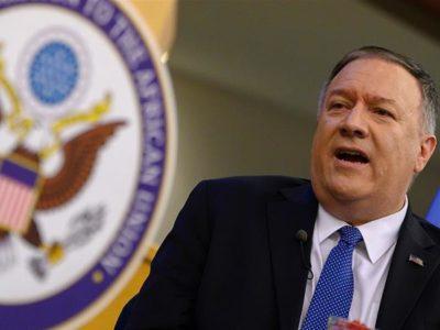 Mike Pompeo en rueda de prensa sobre Venezuela
