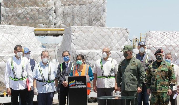 Venezuela recibió 55 toneladas de ayuda técnica de China