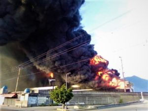 Lucena enumeró los daños a los equipos almacenados
