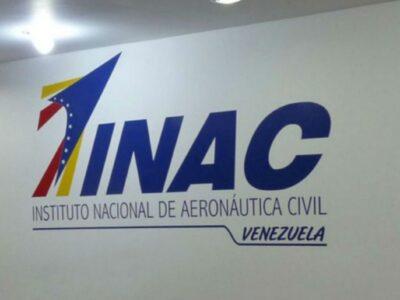 Inac ratifica restricción de operaciones aéreas en toda Venezuela