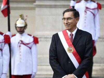Congreso peruano admitió debatir destitución de Martín Vizcarra