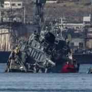 Las barcas sufrieron fuertes deterioros, pero afortunadamente no hubo pérdida de vidas humanas