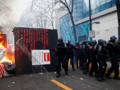 En las fuertes manifestaciones se registraron 95 detenidos y 67 heridos
