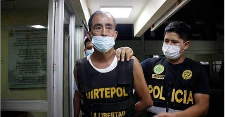 Las autoridades peruanas trabajaron arduamente para dar con la operación de este criminal quien se mantenía oculto en casa de un familiar
