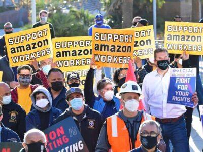 Amazon podría crear su primer sindicato de trabajadores en EE.UU.