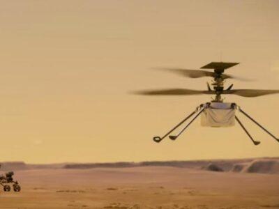 Helicóptero Ingenuity realizó con éxito su primer vuelo en Marte