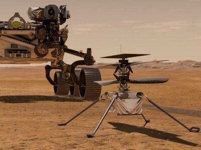 Ingenuity levantó columnas de polvo removidas por el viento de Marte