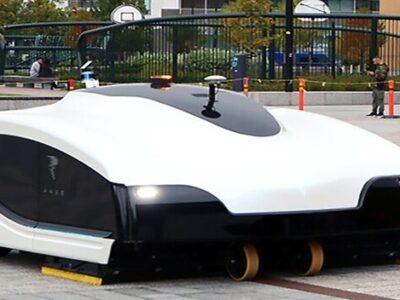 Las calles de Finlandia son limpiadas por robots gigantes
