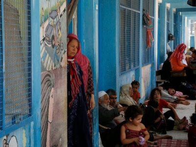Refugiados en escuelas de Gaza aumentan a 47.000 según la ONU