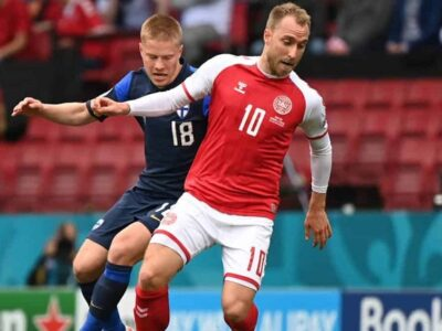 Christian Eriksen se desplomó en pleno partido de la Eurocopa