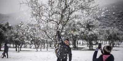La nieve cubrió a la ciudad argentina de Córdoba por primera vez en 14 años