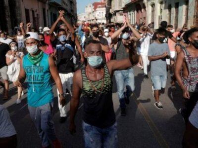 Cuba fue testigo de inéditas manifestaciones contra el gobierno