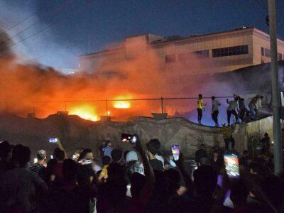 Aumentó la cifra de decesos por incendio en hospital para Covid-19 en Irak