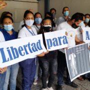 Dirigentes sindicales exigen la liberación de la enfermera Ada Macure