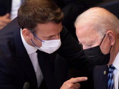 DOBLE LLAVE - Joe Biden pidió hablar con Macron sobre caso de submarinos