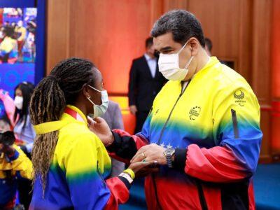 Maduro recibió en Miraflores a la delegación de los Juegos Paralímpicos