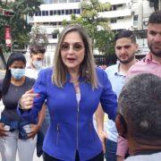 Pinho, doctora en Derecho Constitucional y jubilada del Poder Judicial, recibió el apoyo de Acción Democrática, Copei, Voluntad Popular, Primero Venezuela, Cambiemos, Esperanza por el Cambio y dirigentes independientes