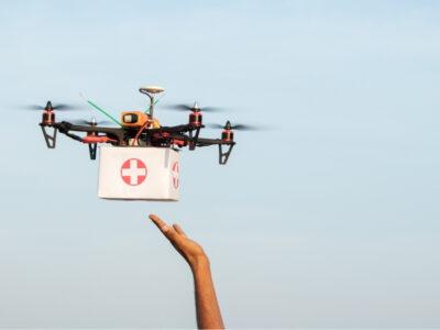 La India usa drones para entregar vacunas en zonas más remotas